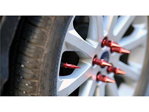 Gelaiken Reduces Air Loss Universal Car Universal Bullet Head Valve Cap Modified Tip Valve Bicycle Motorcycle(Red)