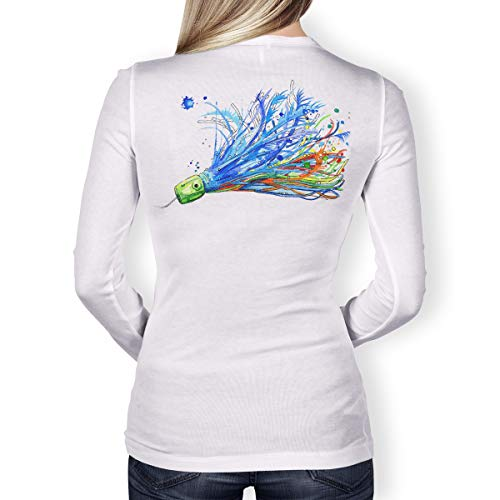 - Southern Fin Apparel Womens Performance Fishing Shirt Girls Ladies Long Sleeve (Small, Offshore Lure)