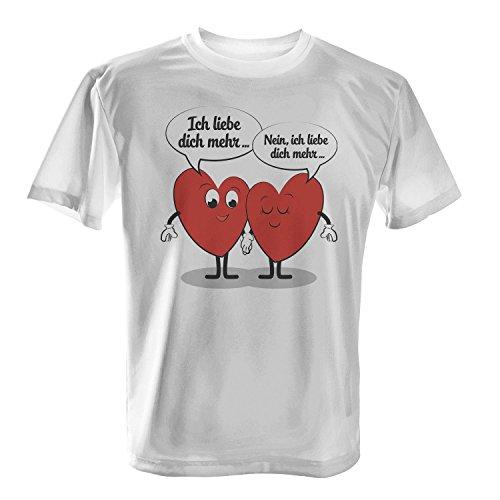 Fashionalarm Herren T-Shirt - Ich liebe dich mehr | Fun Shirt mit Spruch  als Valentinstag & Jahrestag Geschenk Idee für verliebte Paare: Amazon.de:  ...