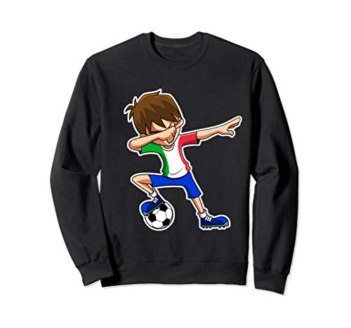 - Dabbing Soccer Boy Italy Jersey, Italian Kids Dab Gifts Sweatshirt