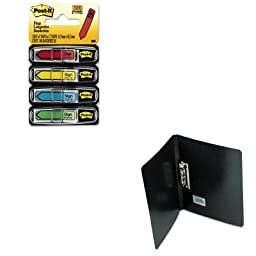 KITACC42521MMM684SH - Value Kit - Acco PRESSTEX Grip Punchless Binder With Spring-Action Clamp (ACC42521) and Post-it Arrow Message 1/2amp;quot; Flags (MMM684SH)