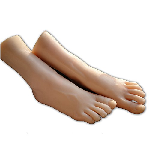 1 Pair Silicone Model Skin Woman is Feet Mold Display Jewerly Sandal Shoe Sock Display Art Sketch