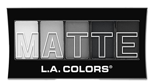 L.A. Colors 5 Color Matte Eyeshadow, Black Lace, 0.08 Ounce (Best Eyeshadow For Gray Eyes)