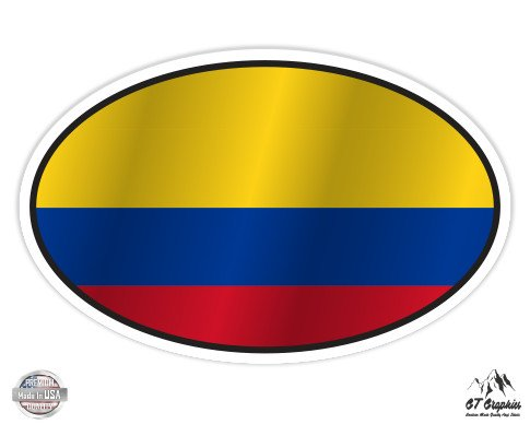 Colombia Flag Oval - 3