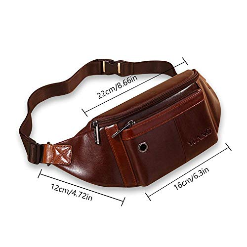 Gym Leather Sport Genuine Backpack Holster Bag Strap Coffeea2 Hiking Shoulder Bag Men Outdoor Chest For shoulder Travel Waist kobwa Handle With Sling aU5qxpqwd