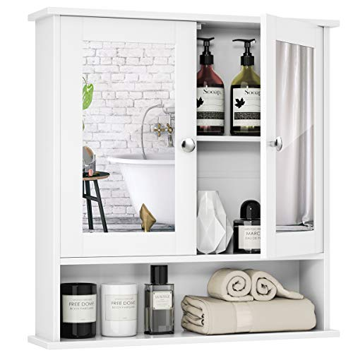 Tangkula Bathroom Cabinet Wall