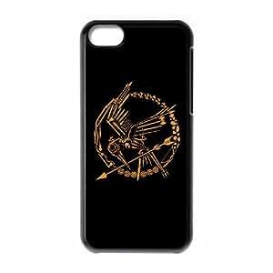 Hambre Juegos Funda iPhone 5C teléfono celular duro caso E8R7XIUR Negro Funda caja del teléfono celular personalizada