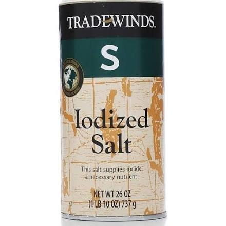 Tradewinds Iodized Salt, 26 Oz (Single) -
