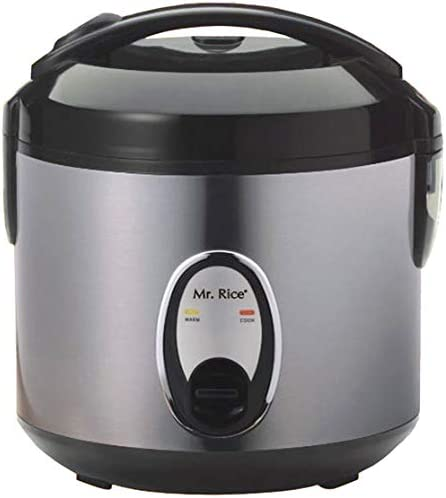 Sunpentown Home Indoor Kitchen 6-Cups Rice Cooker With Stainless Body-SC-1201S