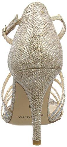 Paco Mena Astrantia - Sandalias de tobillo Mujer Beige - Beige (Stone)