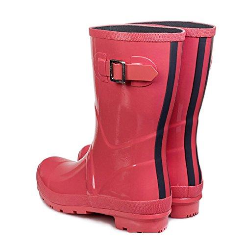 reizvolle Frau Gummistiefel Regenstiefel Schuh Schlauch Rot Größe Abnutzungs Beleg Weise CN36 Schlag Frau Stiefel der Art Frauen und Stiefel Farbe Farbe Erwachsen EU36 Regenstiefel UK4 wqE4UZpfU