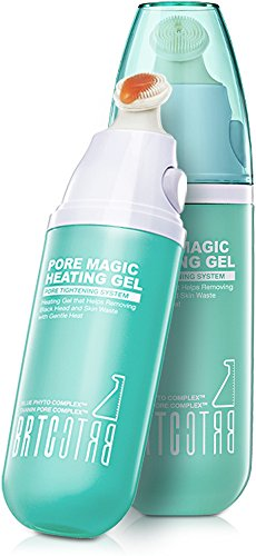 (BRTC Pore Removal Magic Heating Gel, Deep Pore Exfoliating and Tightening System With Fresh Volcanic Cluster Blemish and Blackhead Cleanser (35 g / 1.23 Oz))