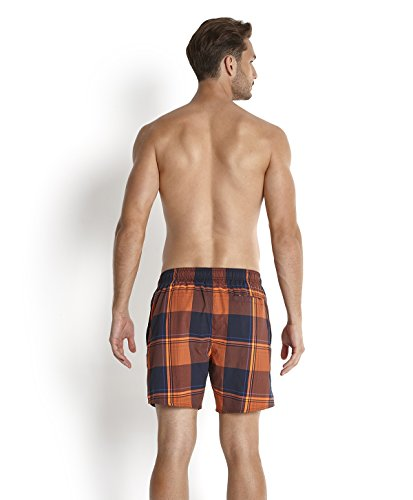 Speedo YD Check Leisure Short de bain Homme Bleu Marine/Peel/Orange Fluo/Deep Peri FR : XL (Taille Fabricant : XL)
