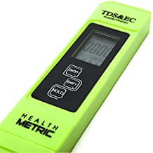 Professional TDS ppm Meter   Digital Test Pen Combines EC, TDS & Temp (3-in-1)   0-9999 ppm & ± 2% Accuracy   Quick and Easy Testing For Hydroponics, Ro System, Pool, Aquarium, Spa and Water Hardness