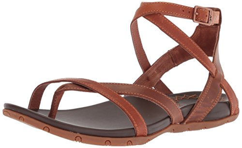 Womens Brown Rust Heels Sandals - Chaco Women's Juniper Sandal, Rust, 12 Medium US