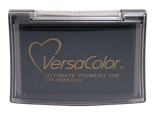 Tsukineko Full-Size VersaColor Ultimate Pigment Inkpad, Charcoal