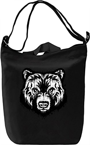 Splash Bear Borsa Giornaliera Canvas Canvas Day Bag| 100% Premium Cotton Canvas| DTG Printing|