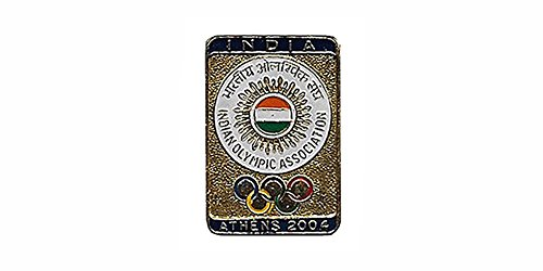 Indian Olympic Association Pin Athens Olympics -