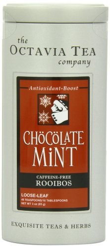 Octavia Tea Chocolate Mint (Caffeine-Free Red Tea/Rooibos) Loose Tea, 3-Ounce Tins (Pack of 2)