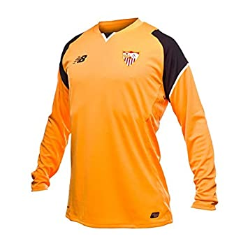 New Balance Sevilla FC Portero Primera Equipación 2016-2017, Camiseta, Naranja-Negro, Talla XL: Amazon.es: Deportes y aire libre