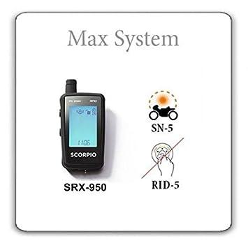 Scorpio Moto Alarm SRX-950 MAX (Rid-5, SN-5) Auto Negro ...