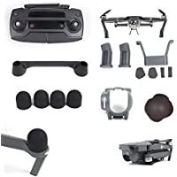 Happisland DJI Mavic Pro Quadcopter Drone 5 in 1 Accessories Kits, Landing Gear Leg Height Extender with Protection Pad, Lens Hood Sunshade with Silicone Cover,Motor Cap Remote Joystick Holder Bracket