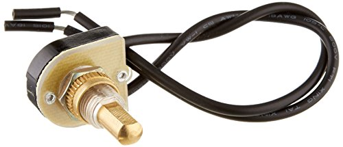 Morris 70200 Brass SPST Push Button, Maintained Contact, On-Off with 6