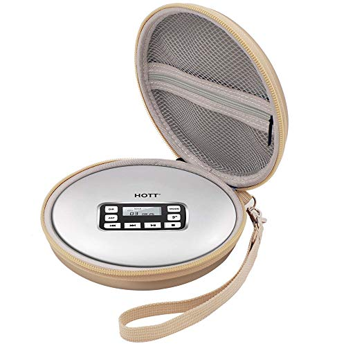 Pouch Cd Player (Wellgain Case Compatible for HOTT Rechargeable Portable CD Player, CD711 / CD611 / Personal Compact Disc Player - Gold)