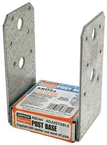 (4 Count) Simpsong Strong-Tie ABU44/ABU44Z 4 x 4 Adjustable Post Base ()