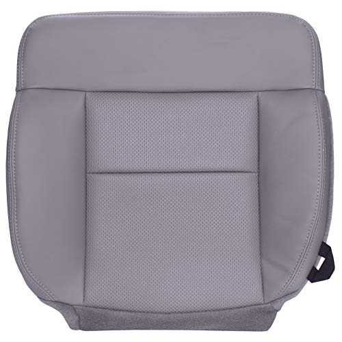 The Seat Shop Driver Bottom Replacement Vinyl Seat Cover - Medium Flint Gray (Compatible with 2004-2008 Ford F150 XL Work Truck) ()