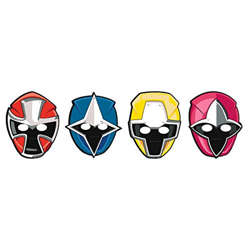 Power Rangers Invitations (Power Rangers Ninja SteelTM Paper Mask, Party)