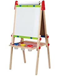 Hape All-in-One Wooden Kid\'s Art Easel with Paper Roll and A...
