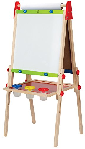 Hape Award Winning All-in-One Wooden Kid's Art Easel with Paper Roll and ()