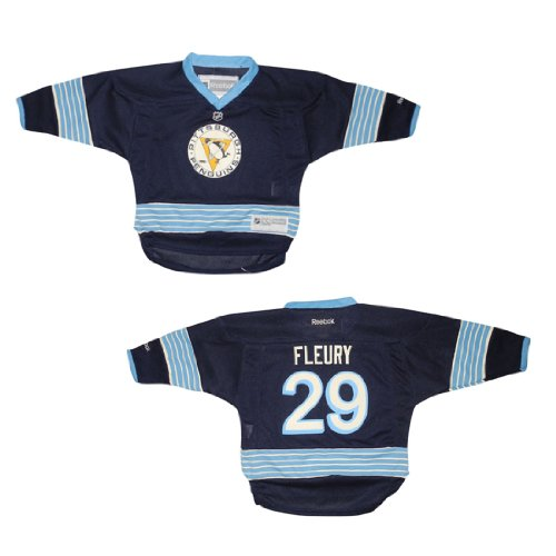 Baby Infant / Boys NHL Pittsburgh Penguins Fleury #29 Hockey Jersey / Sweater - Dark Blue