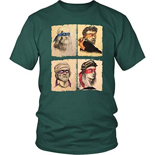 Funny Italian Renaissance Ninja Artists Parody Unisex Shirt Plus Size XL - 4XL -