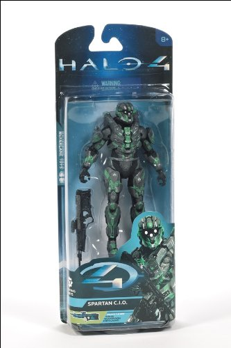 Halo 4 McFarlane Toys Series 2 Exclusive Action Figure STEEL / GREEN Spartan CIO [Unlocks Bones DMR Skin!]