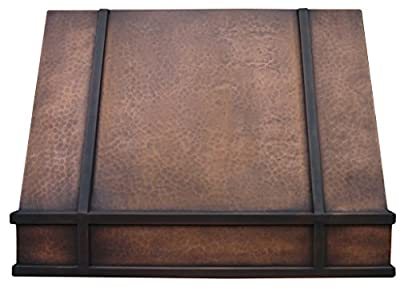 Copper Best H11 362127L Wall Mount Copper Range Hood with Fan 36 inches