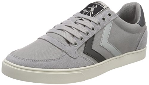 Hummel Slimmer Stadil Duo Canvas Low, Sneaker Unisex – Adulto Grau (Alloy)