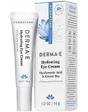 DERMA E Hydrating Eye Cream, Hyaluronic Acid, .5oz