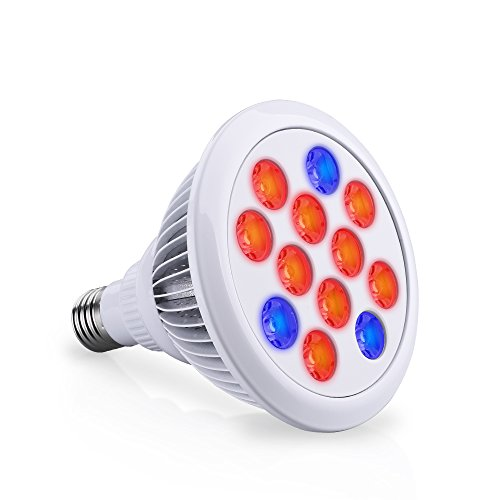 Cymas LED Grow Light, 36W Plant Growing Light E27 Bulbs Spectrum Growing Lamps for Greenhouse and Hydroponic