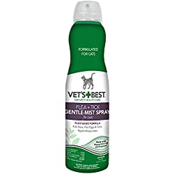 New for Cats Vet's Best Natural Flea and Tick Gentle-Mist Spray, 6.3 oz, USA Made
