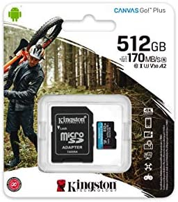 Professional Kingston 512GB for LG V480 MicroSDXC Card Custom Verified by SanFlash. 80MBs Works with Kingston