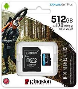 80MBs Works with Kingston Professional Kingston 512GB for Canon VIXIA Mini X MicroSDXC Card Custom Verified by SanFlash.