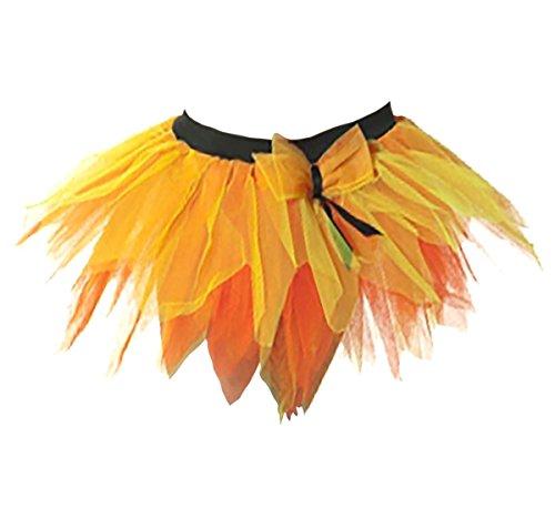 Jaune Couches Usure Zombi Fantaisie Jupe 6 Janisramone Orange Robe Danse Club Poule Dames Femmes Tutu Fête Mini Pétale Nuit Nouveau sxdtQChr