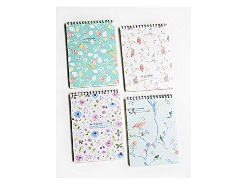 JxucTo Kreatives Kreative Cartoon Sketch Book Tagebuch und Zeitschriften für Home School Office Travel (zufällige Muster)