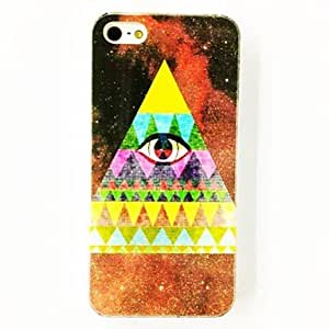 Godlike- Punk Triangle Eye Pattern TPU Soft Case for iPhone 4/4S , Multicolor