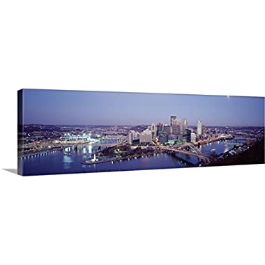 Premium Thick-Wrap Canvas Wall Art Print entitled Pittsburgh PA