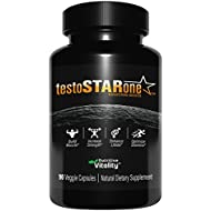 Testosterone Booster for Men - 90 Veggie Capsules - Natural Fast Acting Supplement with Tribulus - Builds Muscle, Increases Strength, Boosts Libido, Vitality and Stamina