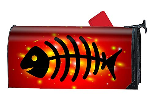 MALBX A Dead Fish On Red Mailbox Cover - Mailbox Makeover -