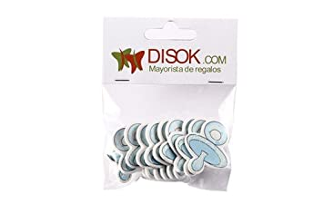 DISOK - Pack Con 10 Adhesivos Chupete Madera Azul ...